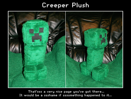 Creeper plush by Starfighter-Suicune