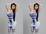 Vampy Bit Me - R2D2 (Before and After) by ImprovedCelebs