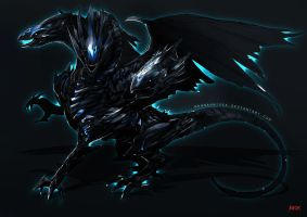 Blue Eyes Ultimate Dragon by Kevin-Glint