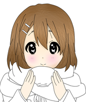 Yui Lineart (colored) by LilyKittyCat