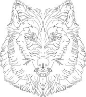 Scroll Work Wolf Hand Engraving lines by shaun750
