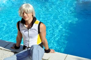 Riku - Enjoying the sun by Zack-Fair-7