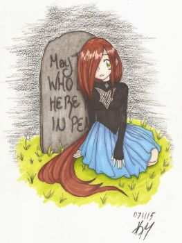 The girl who sang to gravestones by Wynter-Reverie