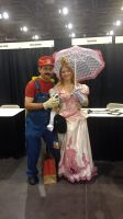 Mario and Peach by forevermagik