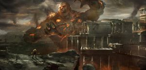 God of war III Concept art by jungpark