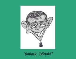 Barack Obama Caricature by Sherkeylock