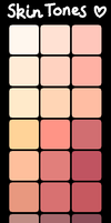 .:Free to Use : Skin Tones:. by InkHeartPaw