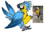 Blue and gold macaw Snekcihc adopt (CLOSED) by Dogthatkills