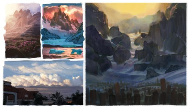 Sketchbook - Landscapes Studies by Changinghand