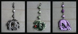 3 Dragon ornaments by dragonlover8560