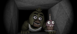 Chica in the vents (FNaF 1) by Toasted912