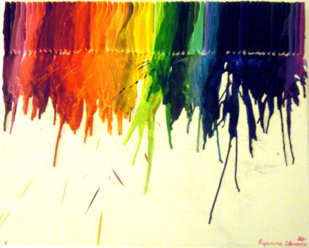 Melted Crayon Painting by Ryannethelion