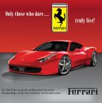 Ferrari ad by Adobian