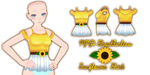 MMD Shoulderless Sunflower Shirt by Tehrainbowllama