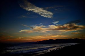 Santa Monica Sunset by pacmangeek
