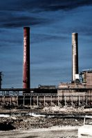 Cannon Mills Smoke Stacks by dhrandy