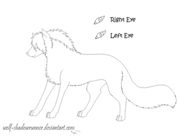 Free Wolf Lineart by Wolf-Shadowrunner