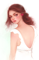 Dress in white by SullenEclipse