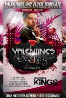 PSD Valentines Day Party Flyer Template v.2 by retinathemes