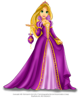 Rapunzel in royal purple by selinmarsou