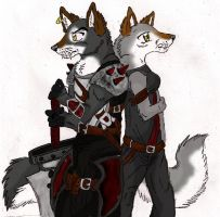 Vail and Inu by Vailwolf