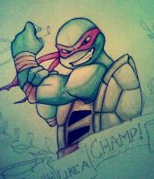 WIP- Raphael the Champ by Inked-Alpha