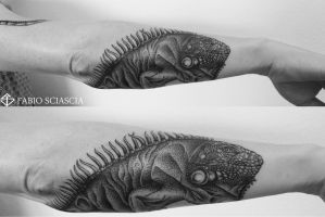 FabioSciascia#Tattoo#Dotwork#Blackwork#leguan by fabiosciascia