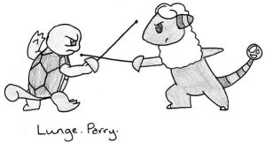 Lunge. Parry. by MineralRabbit