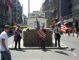 Check Point Charlie in Germany by Jagggedstar4