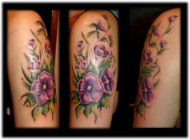 Flower arm done by Lillithmorgain