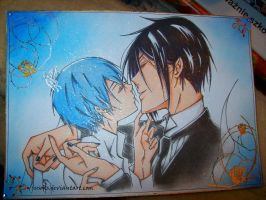 +Sebastian and Ciel+ by jusoks