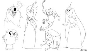 Adventure time doodles by papawaff