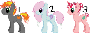 Candy Adoptable Ponies CLOSED by anti-social-DEMON