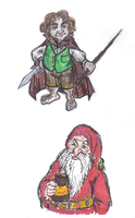 Bilbo and Balin by MacabreMoe