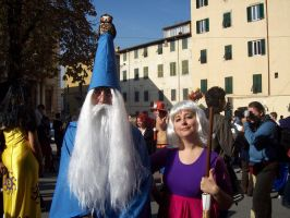 Lucca Comics: Merlin and Mim by FlamiatheDemon