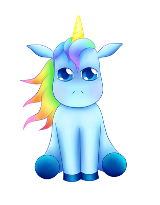 Blue Unicorn by Akhira31