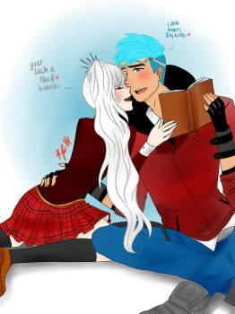 RWBY: You're Such a Nerd (NeptunexWeiss) by LilFloralGirl