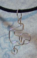 Silver Wire Routes Pendant by SoundwarpSG-1
