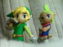 Tetra and Link toys by abnormal-person