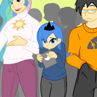 Humanized Ponies by Atticus83