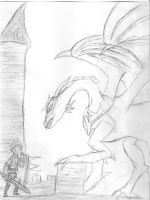 our hero and the dragon by KaZoMa