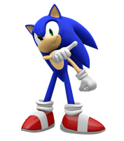 Super Smash Brothers Brawl: Sonic pose by Pho3nixSFM