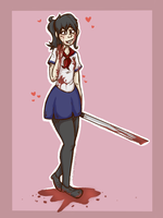 Yandere Chan Redraw by Gagiass1545