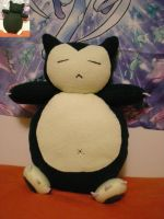 Snorlax pillow plushie by Foureyedalien