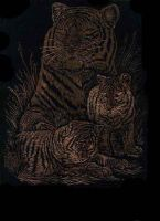 Tiger Engraving by Sitas-Moonlight