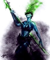Daily Hero - Green Spear by saint-max
