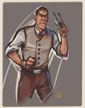 Angry Medic by ChemicalAlia