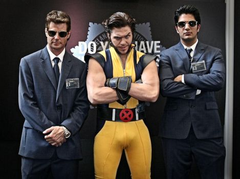 Wolverine with Shield Agents by IamTheWolverine