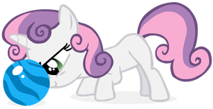 My first vector of Sweetie Belle/CMC 1/3. by Flutterflyraptor