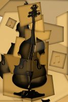 Cello in Sephia by Blissedsoul